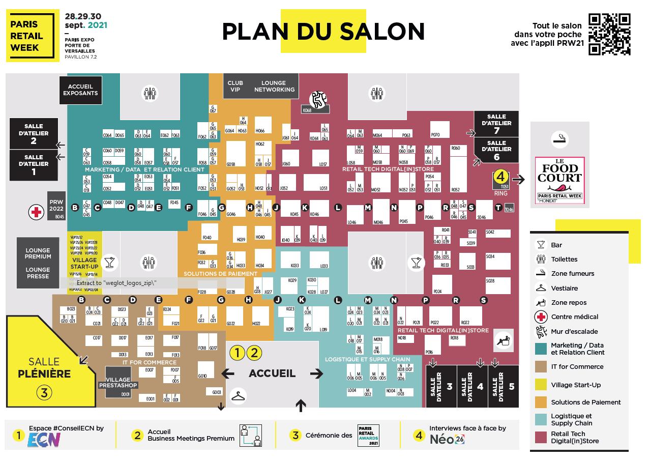 Plan du salon Paris Retail Week 2021